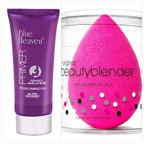 Blue Heaven Combo of Primer And Beauty Blender Puff