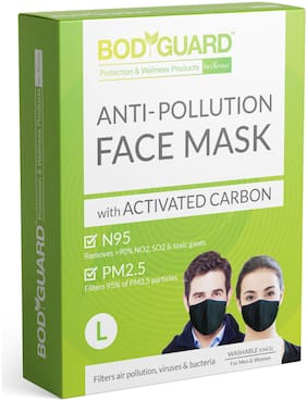 Bodguard N95 + PM2.5 Anti Pollution Face Mask with Activated Carbon - Large