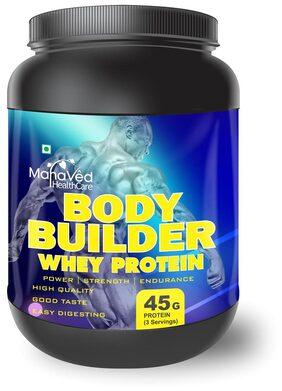 Mahaved Body Builder Whey Protein Supplement 500 gm - Elaichi