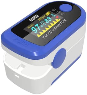 Body Safe Blue Digital Finger Pulse Oximeter - Blood Oxygen Saturation Monitor - SPO2 Pulse Oximeter - Portable Oxygen Oxymeter Sensor