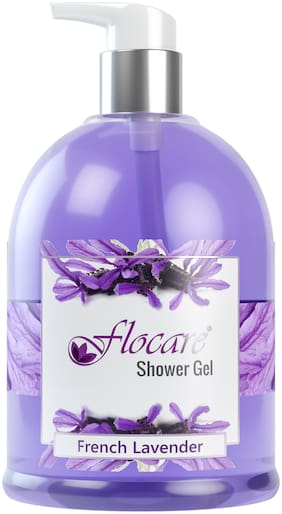 Body Wash Shower Gel Dry Oily All Skin - Natural Cold Pressed Extracts Enriched Moisturizer 500 ml - Soul Soothing Fresh Aromatherapy No Paraben No Sulfate Safe - Unisex (French Lavender)