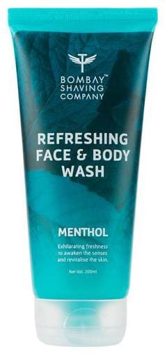Bombay Shaving Company Menthol Refreshing Face & Body Wash 100 ml