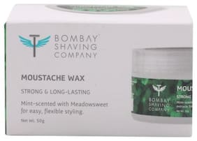 Bombay Shaving Company Moustache Wax - Mint Scented  Strong & Long Lasting 50 gm