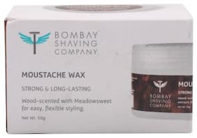 Bombay Shaving Company Moustache Wax - Wood Scented  Strong & Long Lasting 50 g