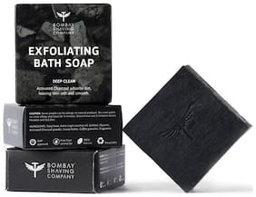Bombay Shaving Company Activated Charcoal Deep Clean Bath Soap 100gm (Pack of 3)