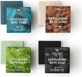 Bombay Shaving Company Exfoliating Bath Soaps 100g Each (Pack of 4)