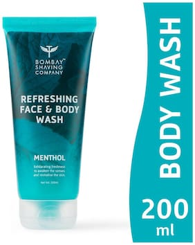 Bombay Shaving Company Menthol Refreshing Face and Body Wash-200ml
