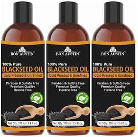 Bon Austin 100% Pure Organic Blackseed(Kalonji) oil 100ml (Pack of 3)