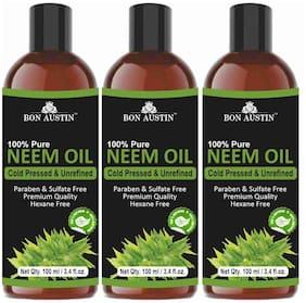 Bon Austin 100% Pure Organic Neem oil 100ml (Pack of 3)