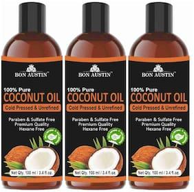 Bon Austin 100% Pure Organic Coconut oil 100ml (Pack of 3)