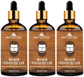 Bon Austin Beard Growth oil- For Stimulating Fast Beard Growth & to maintain Long Beard 30 ml(Pack of 3)