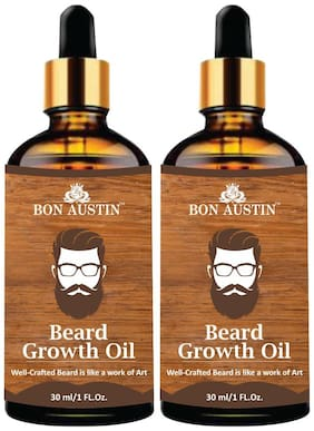 Bon Austin Beard Growth oil- For Stimulating Fast Beard Growth & to maintain Long Beard 30 ml(Pack of 2)