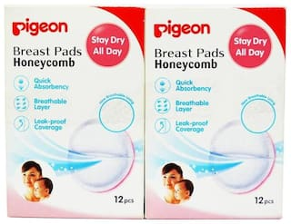 Pigeon Breast Pads Honeycomb 12 pcs Box Combo (12 pcs + 12pcs)