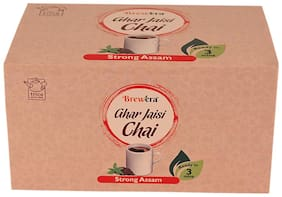 Brewera Indian Assam Black Tea Refresh You with Ideal Delicious Taste/Ghar Jaisi Chai 18 Cups