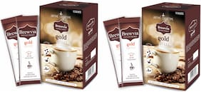 Brewvia Instant Coffee Sachets - Natural Coffee Powder For Weight Lose - Energy Drink (Pack Of 2)