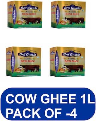 Brij Gwala Desi Cow Ghee 1L (Pack of 4)