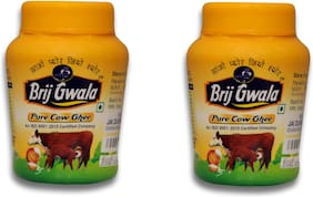 Brij Gwala Pure Desi Ghee 1Ltr Jar Pack Of-2