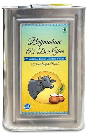 Brijmohan A2 Desi Ghee 100% Pure Ghee Made from Buffalo Milk 15 kg