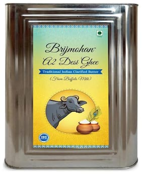 Brijmohan A2 Desi Ghee 100% Pure Ghee Made from Buffalo Milk 5  kg