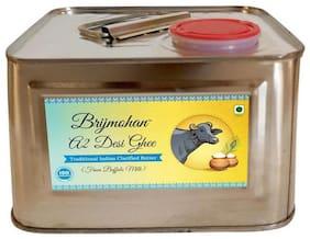 Brijmohan A2 Desi Ghee 100% Pure Ghee Made from Buffalo Milk 2 L