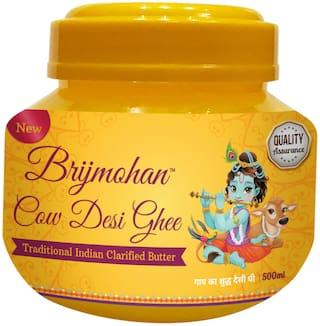 Brijmohan Cow Desi Ghee, 100% Pure Unadulterated Ghee Tasty & Healthiest Ghee for Frying Farsan Sweets. (500ml)