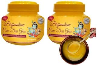 Brijmohan Cow Desi Ghee, 100% Pure Unadulterated Ghee Tasty & Healthiest Ghee for Frying Farsan Sweets. (500 ml Pack of 2)