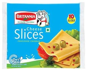 Britannia Cheese Slice Processed Cheddar 100 gm