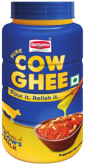 Britannia Cow Ghee Pet Jar 500ML Pack of 1