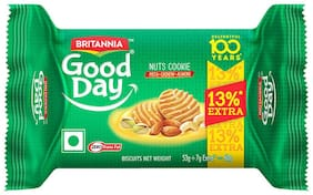 Britannia Good Day Nuts Cookie 53 g (13% Extra)