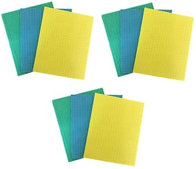 Brite Guard Cellulose Cleaning Sponge Mops Multicolour -(Pack of 9)