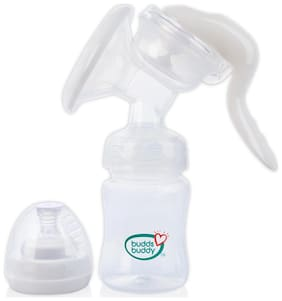 Buddsbuddy Advanced Manual Breast Pump With Extra Free Bottle White (Pack Of 1)