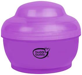 Buddsbuddy BPA Free Popo Baby Powder Puff With Storage Powder Case, Purple