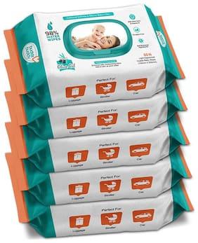 Buddsbuddy Combo of 5 Skincare Baby Wet Wipes - 80 pcs