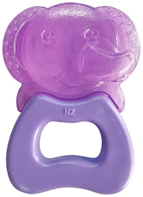 Buddsbuddy Premium Elephant Shaped Hard & Soft Water Filled Teether 1Pc/BB7122 Violet
