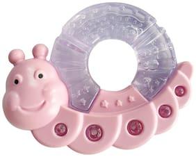 Buddsbuddy Premium CaterPiller Shaped Water Filled Teether 1Pc/BB7119/PinkWhite