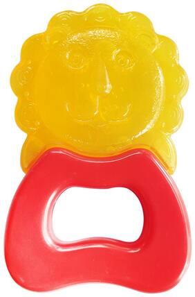 Buddsbuddy Premium Lion Shaped Hard & Soft Water Filled Teether 1Pc/BB7122 Orange