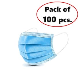 BUKKL 3Ply Surgical Face Masks ( Pack of 100 )
