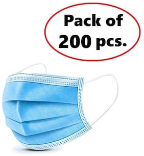 BUKKL 3Ply Surgical Face protection Masks ( Pack of 200)