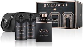 Bvlgari Man In Black Gift Set (EDP100ml+SSG75ml+ASB75ml+Pouch)
