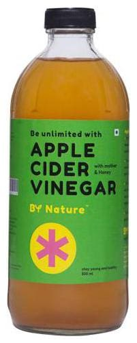 By Nature Raw Unrefined Apple Cider Vinegar with Honey 500 ml