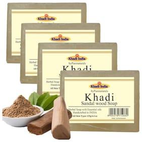byPurenaturals Khadi Sandal wood Soap 125g (Pack of 4)