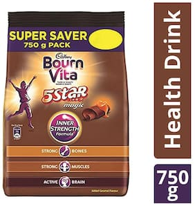 Cadbury Bournvita 5 Star Magic Health Drink, 750 g  (Pack of 2) Refill