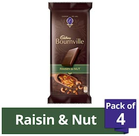Cadbury Bournville Dark Chocolate Bar with Raisin & Nuts 80 g (Pack of 4)