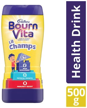 Cadbury Bournvita Little Champs Health Drink, 500g Jar - (Pack of 2)
