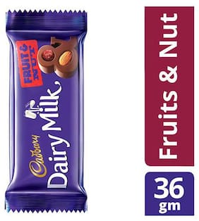 Cadbury Dairy Milk Fruit & Nut Chocolate Bar 36 g