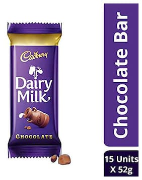 Cadbury Dairy Milk Chocolate Bar  52g Maha Pack (Pack of 15)