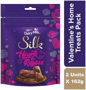 Cadbury Dairy Milk Silk Valentines Home Treats 162g (Pack of 2)