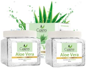 Caleto Natural Aloe Vera Skin And Hair Gel | Enriched With Vitamin-E, Multi-Purpose Moisturizer Gel - 500 ml (250 ml Pack Of 2)