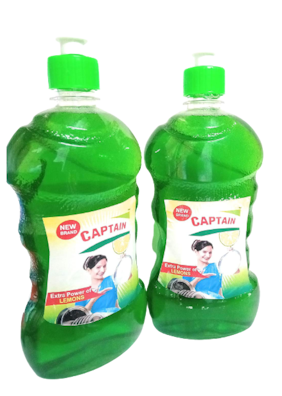 Captain Dishwash Liquid 500 ml Green (Pack fo 2)