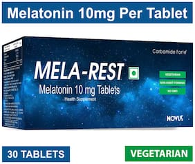 Carbamide Forte Sleeping Aid Pills - Melatonin 10mg - Non Habit Forming - Improve Sleep - Natural Sleep Aid - Deep Sleep - MELA-REST (30 Tablets)